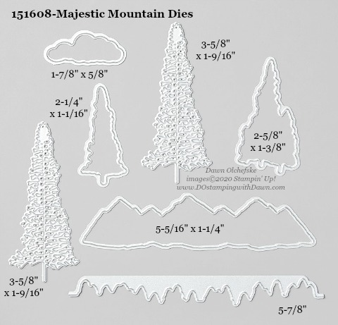Stampin' Up! Majestic Mountain Die #DOstamping #stampinup #majesticmountain #bigshot #cardmaking #HowdSheDOthat #papercrafting
