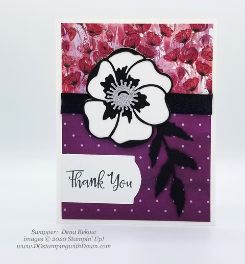 Stampin' Up! Peaceful Poppies swaps shared by Dawn Olchefske #dostamping #howdshedothat #stampinup #handmade #cardmaking #stamping #papercrafting #paintedpoppies (Dena Rekow)