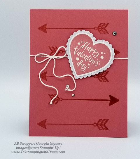 Stampin' Up! From My Heart swaps shared by Dawn Olchefske #dostamping #howdshedothat #stampinup #handmade #cardmaking #stamping #papercrafting #frommyheart (Georgia Giguere)