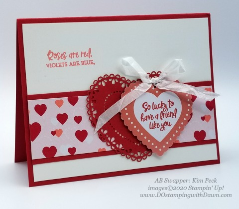 Stampin' Up! From My Heart swaps shared by Dawn Olchefske #dostamping #howdshedothat #stampinup #handmade #cardmaking #stamping #papercrafting #frommyheart (Kim Peck)
