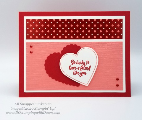 Stampin' Up! From My Heart swaps shared by Dawn Olchefske #dostamping #howdshedothat #stampinup #handmade #cardmaking #stamping #papercrafting #frommyheart (unknown)