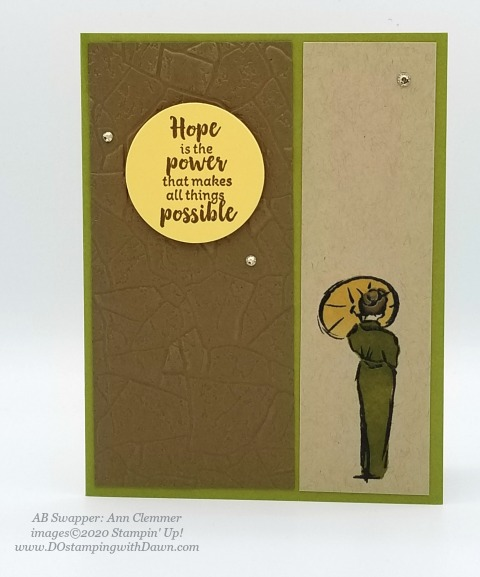 Stampin' Up! Power of Hope swaps shared by Dawn Olchefske #dostamping #howdshedothat #stampinup #handmade #cardmaking #stamping #papercrafting #powerofhope (Ann Clemmer)
