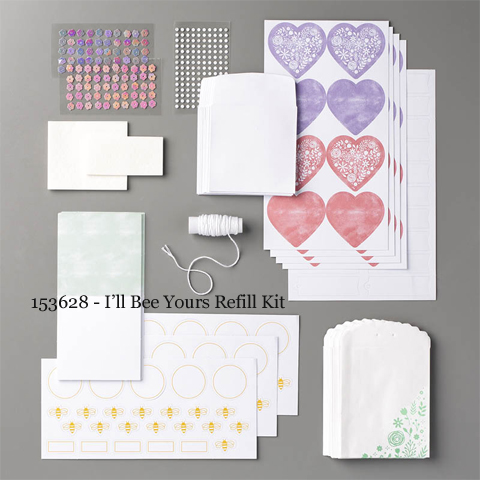 Paper Pumpkin January 2020 I'll Bee Yours Refill Kit - 153628 | Dawn Olchefske dostamping #stampinup #handmade #cardmaking #stamping #diy #papercrafting #paperpumpkin