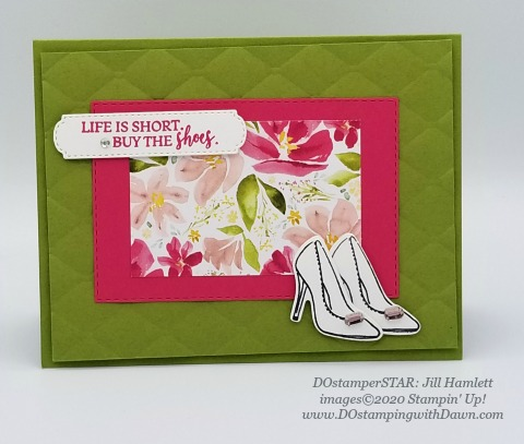 Stampin' Up! All Dressed Up swap shared by Dawn Olchefske #dostamping #howdshedothat #stampinup #handmade #cardmaking #stamping #papercrafting (Jill Hamlett)