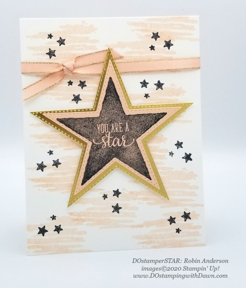 Stampin' Up! Morning Star swap shared by Dawn Olchefske #dostamping #howdshedothat #stampinup #handmade #cardmaking #stamping #papercrafting (Robin Anderson)