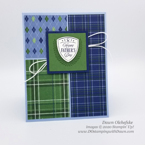 Stampin' Up! Country Club Suite Color-Block card by Dawn Olchefske #dostamping #howdshedothat #stampinup #handmade #cardmaking #stamping #papercrafting  #masculine #clubhouse