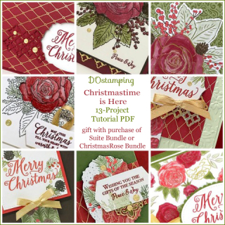 DOstamping Gift with Christmas Rose Bundle purchase FREE 13- Project Tutorial PDF, shop with Dawn Olchefske, https://bit.ly/shopwithdawn | #dostamping #ChristmastimeIsHere #cardmaking