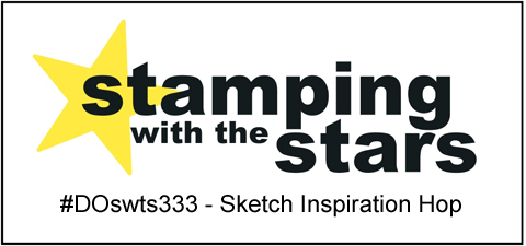 Stamping with the STARS Sketch Inspiration Hop #DOswts333  #dostamping #stampinup #handmade #dostamperSTARS #cardmaking timelesstulips #pleasedaspunch
