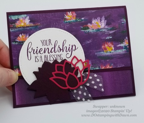 Stampin' Up! Lovely Lily Pad swap card shared by Dawn Olchefske #dostamping #stampinup #handmade #cardmaking #stamping #papercrafting