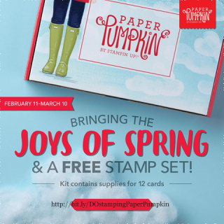 Paper Pumpkin March 2020 -Joy of Spring Sneak Peek, plus FREE stamp set, subscribe with Dawn Olchefske by February 10th at http://bit.ly/DOstampingPaperPumpkin #paperpumpkin #birthdaycards #dostamping #stampsinthemail