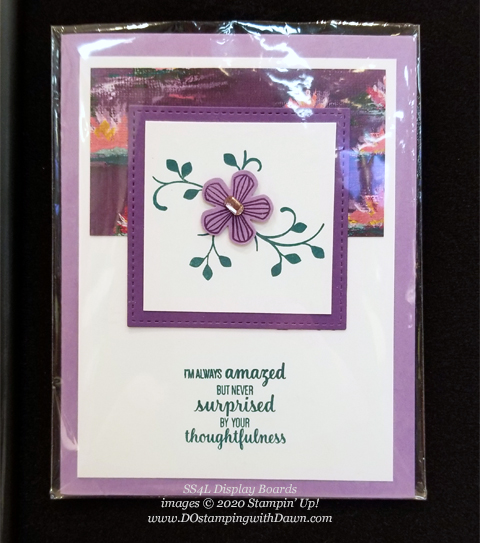 Stampin' Up! Thoughtful Blooms SS4L Event display card shared by Dawn Olchefske #dostamping #stampinup #handmade #cardmaking #stamping #papercrafting