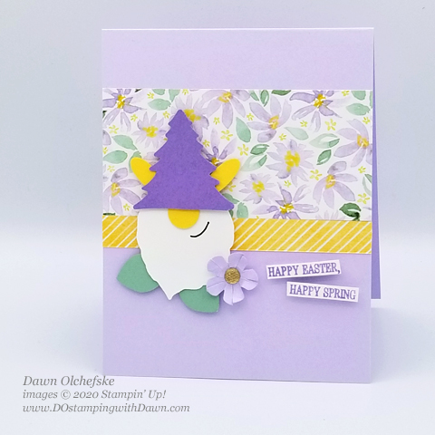 Easter Bunny Gnome by Dawn Olchefske for DOstamperSTARS Stamping with the Stars #DOswts334 #dostamping #stampinup #handmade #cardmaking #punchart #papercrafting #howdSheDOthat