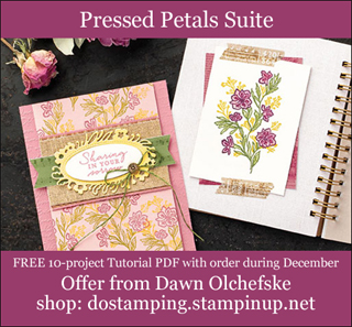 DOstamping December 2019 order BONUS - FREE Pressed Petals Suite 10-Project Tutorial PDF, shop with Dawn Olchefske, https://bit.ly/shopwithdawn | #dostamping #pressedpetals #cardmaking