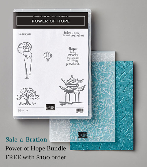 Sale-a-Bration Power of Hope Bundle #stampinup #dostamping #freestamps