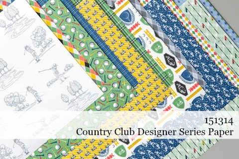 Stampin' Up! Country Club Designer Series Paper (151314) #dostamping #stampinup #papercrafting #cardmaking #countryclub