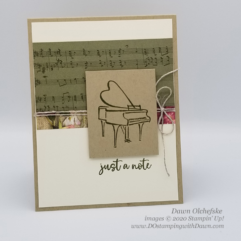 Dawn Olchefske Music from the Heart stamp set #dostamping #howdshedothat #stampinup #handmade #cardmaking #stamping #papercrafting  #musicfromtheheart