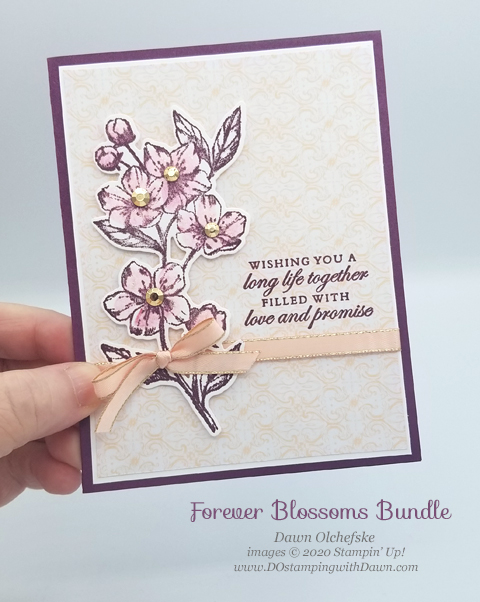 Stampin' Up! Forever Blossoms Bundle shared by Dawn Olchefske #dostamping #howdshedothat #stampinup #handmade #cardmaking #stamping #papercrafting