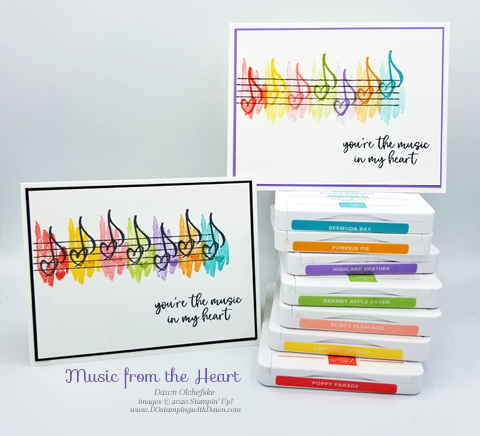 Music from the Heart rainbow card by Dawn Olchefske #dostamping #howdshedothat #stampinup #handmade #cardmaking #stamping #papercrafting  #musicfromtheheart #ycc105