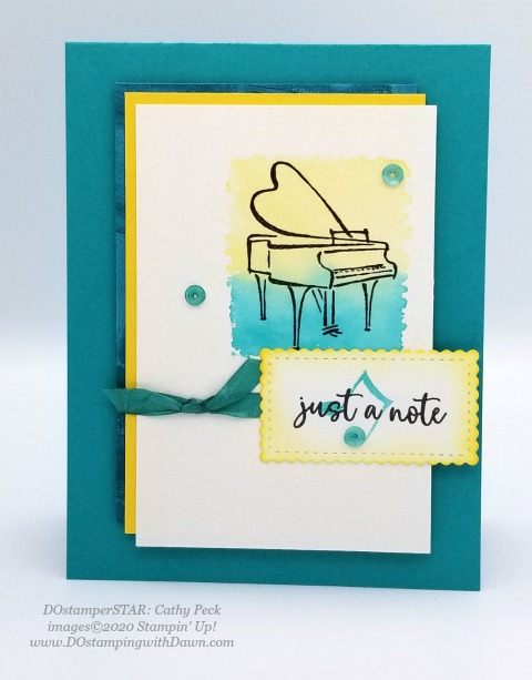 Stampin' Up! DOstamperSTARS Music from the Heart Swaps shared by Dawn Olchefske #dostamping #howdshedothat #stampinup #handmade #cardmaking #stamping #papercrafting (Cathy Peck)