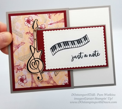 Stampin' Up! DOstamperSTARS Music from the Heart Swaps shared by Dawn Olchefske #dostamping #howdshedothat #stampinup #handmade #cardmaking #stamping #papercrafting (Pam Watkins)