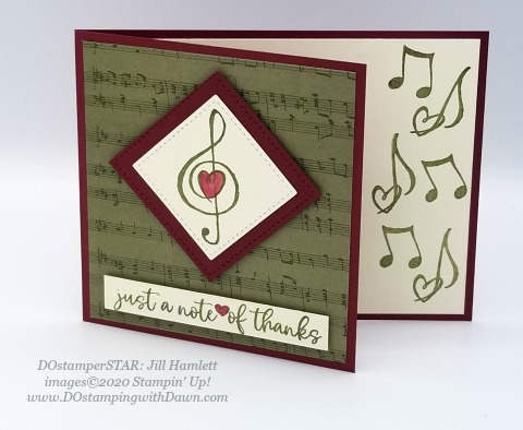 Stampin' Up! DOstamperSTARS Music from the Heart Swaps shared by Dawn Olchefske #dostamping #howdshedothat #stampinup #handmade #cardmaking #stamping #papercrafting (Jill Hamlett)