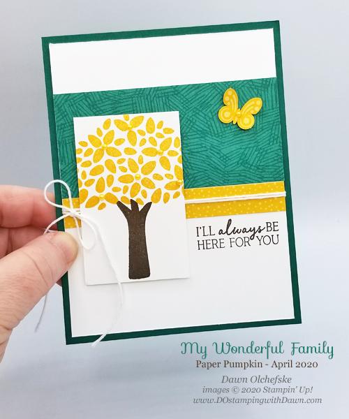 Paper Pumpkin My Wonderful Family sketch card by Dawn Olchefske #dostamping #howdshedothat #stampinup #handmade #cardmaking #stamping #papercrafting#paperpumpkin #mywonderfulfamily #DOswts337 #sketch