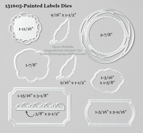 Stampin' Up! Painted Labels Dies #DOstamping #stampinup #paintedlabels #bigshot #cardmaking #HowdSheDOthat #papercrafting