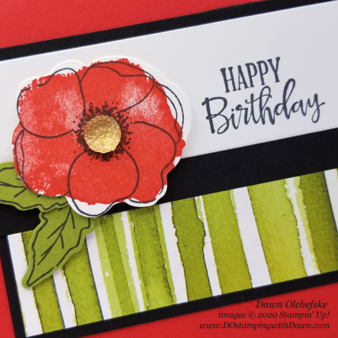 Stampin' Up! Painted Poppies Bundle quick & cute card by Dawn Olchefske #dostamping #howdshedothat #stampinup #handmade #cardmaking #stamping #papercrafting  #paintedpoppies #birthdaycards
