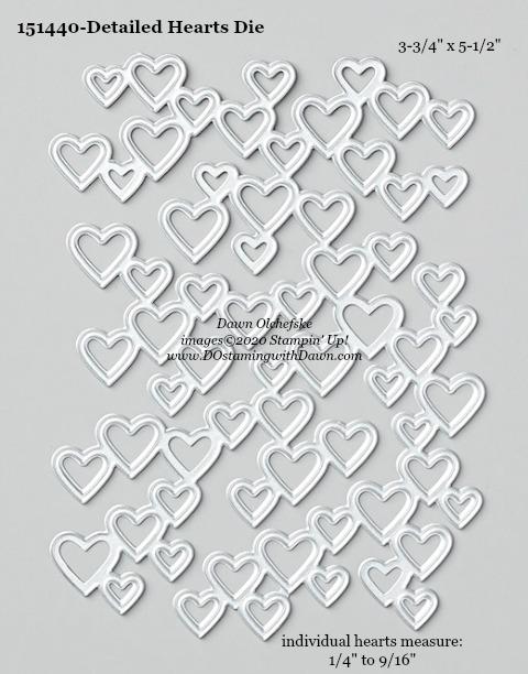 Stampin' Up! Detailed Hearts Die #DOstamping #stampinup #detailedhearts #bigshot #cardmaking #HowdSheDOthat #papercrafting