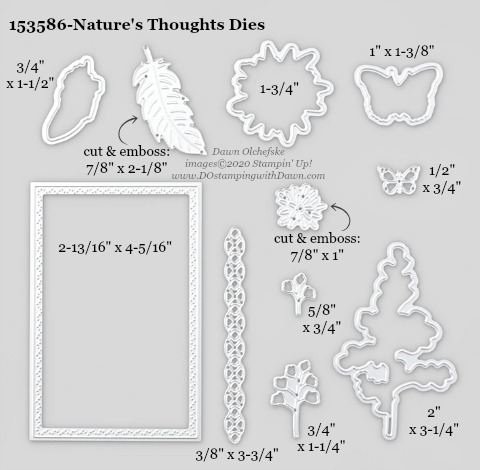 Stampin' Up! Nature's Thoughts Dies #DOstamping #stampinup #naturesthoughts #bigshot #cardmaking #HowdSheDOthat #papercrafting