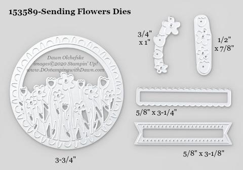 Stampin' Up! Sending Flowers Dies #DOstamping #stampinup #sendingflowers #bigshot #cardmaking #HowdSheDOthat #papercrafting