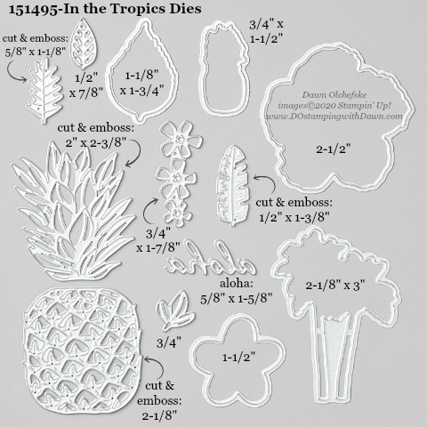 Stampin' Up! In the Tropics Dies #DOstamping #stampinup #inthetropics #bigshot #cardmaking #HowdSheDOthat #papercrafting