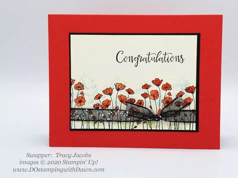 Stampin' Up! Peaceful Poppies swaps shared by Dawn Olchefske #dostamping #howdshedothat #stampinup #handmade #cardmaking #stamping #papercrafting #paintedpoppies (Tracy Jacobs)