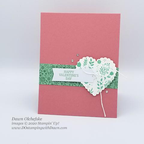 Quick & cute Paper Pumpkin alternative card by Dawn Olchefske #dostamping #howdshedothat #stampinup #handmade #valentinesday #DOswts331 #dostamperSTARS #paperpumpkin #illbeeyours #sketch
