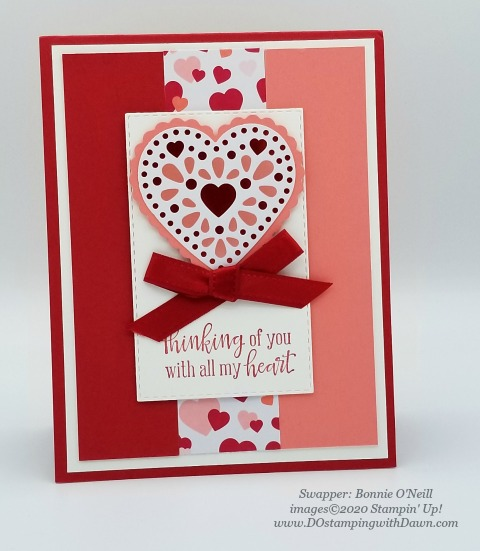 Stampin' Up! From My Heart swaps shared by Dawn Olchefske #dostamping #howdshedothat #stampinup #handmade #cardmaking #stamping #papercrafting #frommyheart (Bonnie O'Neill)