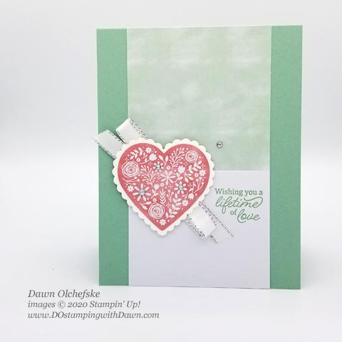 Paper Pumpkin January I'll Bee Yours Blop Hop | Dawn Olchefske dostamping #stampinup #handmade #cardmaking #stamping #diy #papercrafting #paperpumpkin #wedding