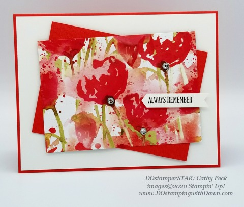 Stampin' Up! Painted Poppies swap shared by Dawn Olchefske #dostamping #howdshedothat #stampinup #handmade #cardmaking #stamping #papercrafting (Cathy Peck)