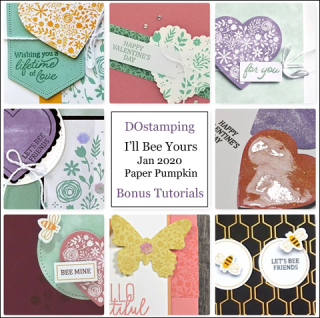 I'll Bee Yours, January 2020 Paper Pumpkin with DOstamping to receive a free alternate ideas tutorial PDF bonus each month.  Subscribe with Dawn Olchefske here:  http://bit.ly/DOstampingPaperPumpkin  #paperpumpkin #dostamping #stampinup #alternativeideas