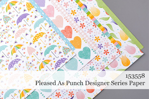 153558-Pleased as Punch Designer Series Paper #dostamping #stampinup #coordinationproduct