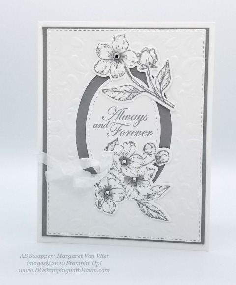 Stampin' Up! Parisian Blossoms Suite swap cards shared by Dawn Olchefske #dostamping #howdshedothat #stampinup #handmade #cardmaking #stamping #papercrafting (Margaret Van Vliet)