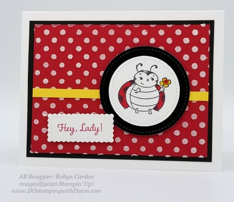 Stampin' Up! Little Ladybug swap cards shared by Dawn Olchefske #dostamping #howdshedothat #stampinup #handmade #cardmaking #stamping #papercrafting (Robyn Cardon)