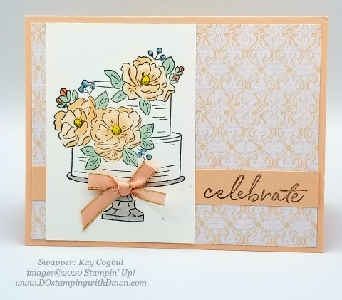 Stampin' Up! Happy Birthday to You swap card shared by Dawn Olchefske #dostamping #howdshedothat #stampinup #handmade #cardmaking #stamping #papercrafting (Kay Cogbill)