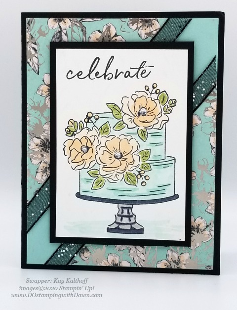 Stampin' Up! Happy Birthday to You swap card shared by Dawn Olchefske #dostamping #howdshedothat #stampinup #handmade #cardmaking #stamping #papercrafting (Kay Kalthoff)