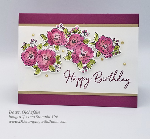 Your Creative Connection: Happy Birthday To You from Stampin' Up! 2020 Sale-a-Bration created by Dawn Olchefske #dostamping #howdshedothat #stampinup #handmade #cardmaking #stamping #papercrafting#YCC102 #yourcreativeconnection #coordinationproductrelease