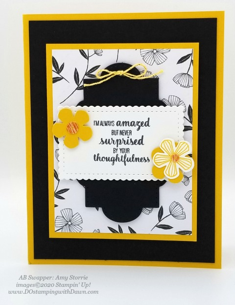 Stampin' Up! Thoughtful Blooms swap card shared by Dawn Olchefske #dostamping #stampinup #handmade #cardmaking #stamping #papercrafting (Amy Storrie)