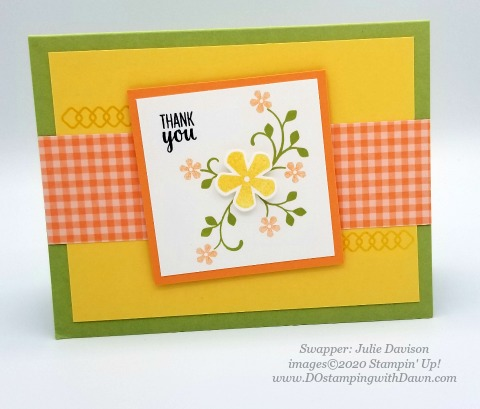 Stampin' Up! Thoughtful Blooms swap card shared by Dawn Olchefske #dostamping #stampinup #handmade #cardmaking #stamping #papercrafting (Julie Davison)