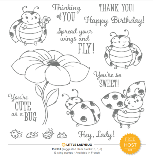 Little Ladybug Host Stamp Set during 2020 Sale-a-Bration with a $300 party/order #dostamping #stampinup #saleabration