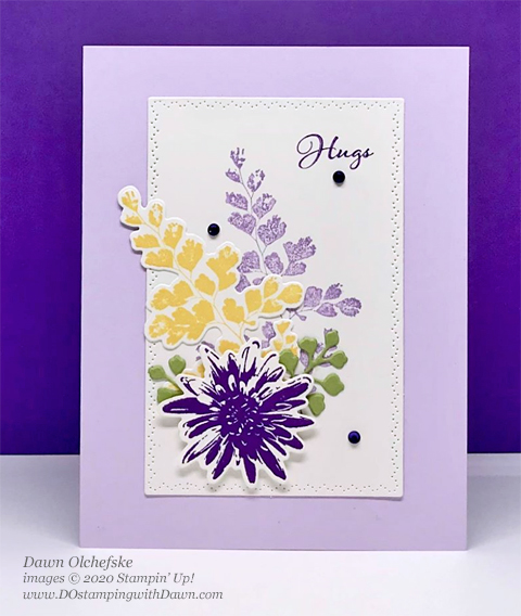 Stampin' Up! Positive Thoughts stamp set and Nature's Thoughts Dies card shared by Dawn Olchefske #dostamping #howdshedothat #stampinup #handmade #cardmaking #stamping #papercrafting