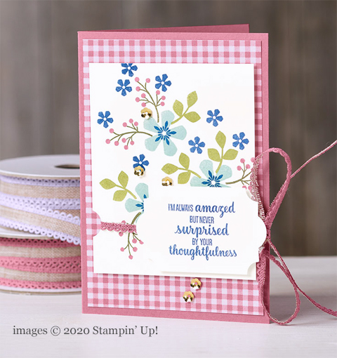 Stampin' Up! Thoughtful Blooms card shared by Dawn Olchefske #dostamping #stampinup #handmade #cardmaking #stamping #papercrafting