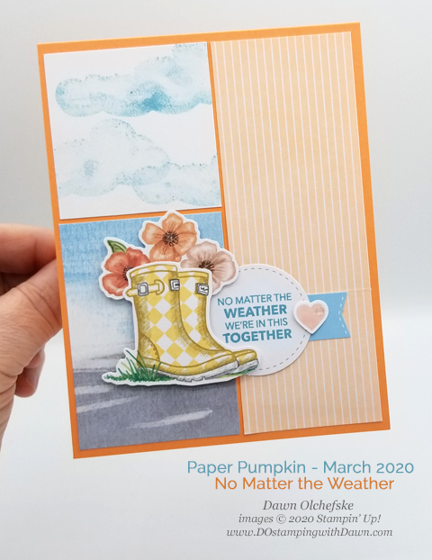 No Matter the Weather Paper Pumpkin kit card by Dawn Olchefske for DOstamperSTARS Stamping with the Stars #DOswts335 #dostamping #stampinup #handmade #cardmaking #papercrafting #paperpumpkin